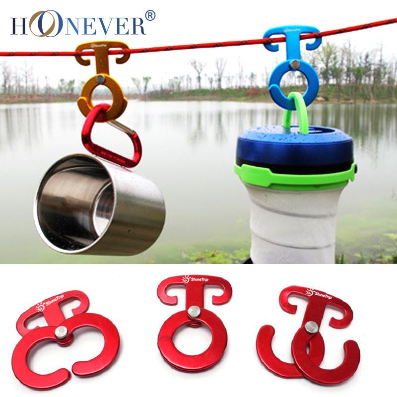 4pcs Camping Tent Rope Buckle Aluminum Alloy Quick Hang Camping Wind Rope Hanging Buckle Quickdraw(China (Mainland))