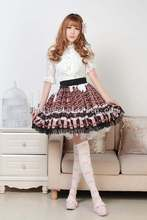 Buy Fashion Beautiful Short Skirt Sweet Cream & Chocolate Print SK Lolita Skirt for $58.00 in AliExpress store