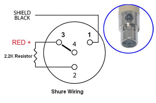 XLR 4 TA4F 4 PIN MINI XLR CONDENSER MICROPHONE TO XLR/XLR