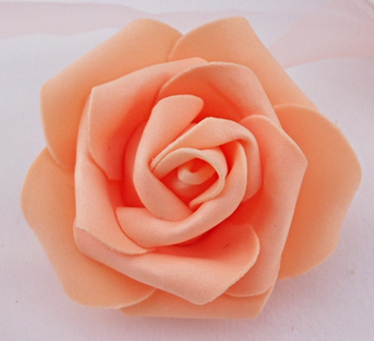 High Quality 50pcslot 7cm Foam Rose Heads Real Touch New PE Kissing Balls For Weddings DIY Wedding Table Centerpieces 8 Colors (5)