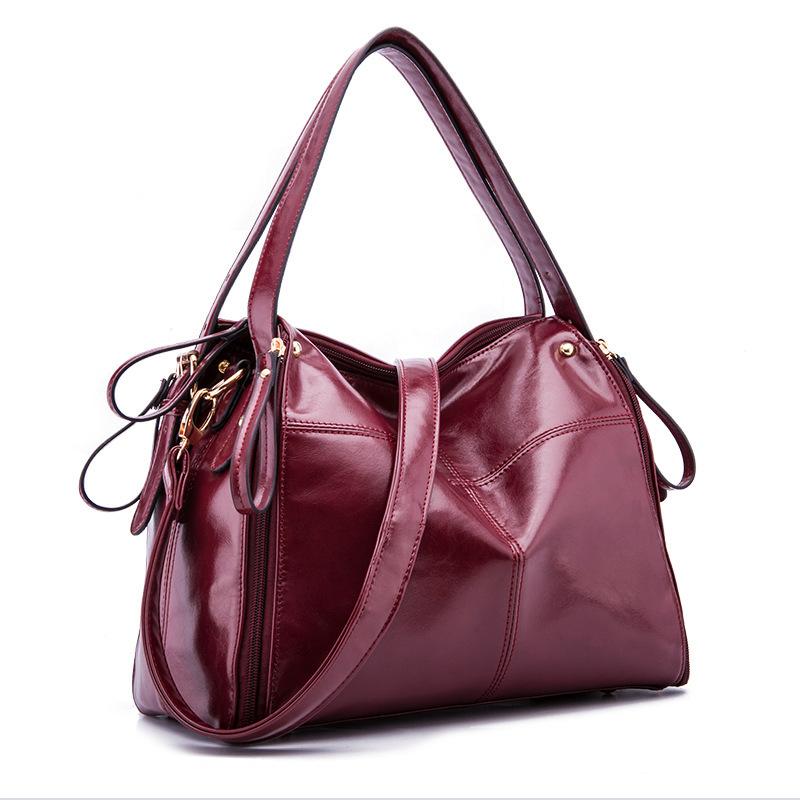2015 Women Bag New Oil Wax Women Leather Handbag Fashion Shoulder Bag Hot Women Messenger Bags Natural Tote Bolsas Crossbody Bag(China (Mainland))