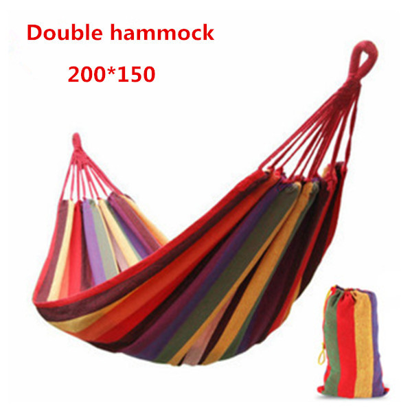 2015 new double hammock camping survival hammock parachute cloth portable double person hammock - Hamacas dobles ...