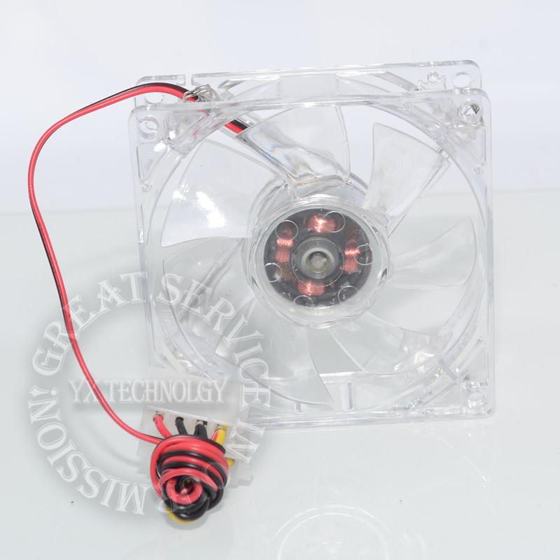 pc computer fan case cooling fan unit fan 8025 8cm with LED lights chassis fan 80