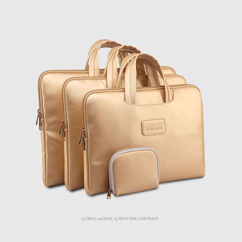 2015 Hot Selling Laptop Bag Smart Cover For ipad MacBook Laptop  briefcase13  14  15  inch golden luxury laptop Bag<br><br>Aliexpress