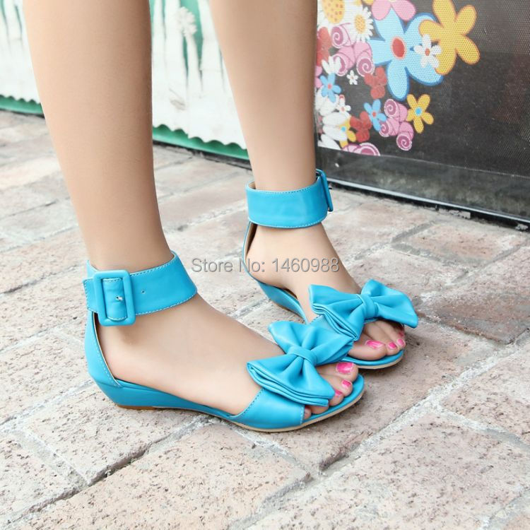 New Summer Fashion PU Women Flat Sandal Shoes Ankle Wrap(China (Mainland))