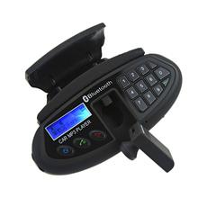 Multifunción negro manos libres auricular bluetooth inalámbrico con transmisor fm para el volante del coche del bluetooth MP3 auricular