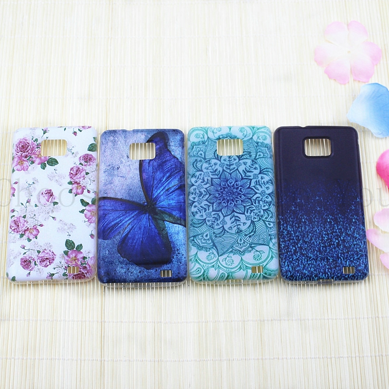 New mobile phone bag For Samsung Galaxy S2 SII i9100 Soft TPU Phone case Cover Painted Datura Flowers For Samsung S2 case(China (Mainland))