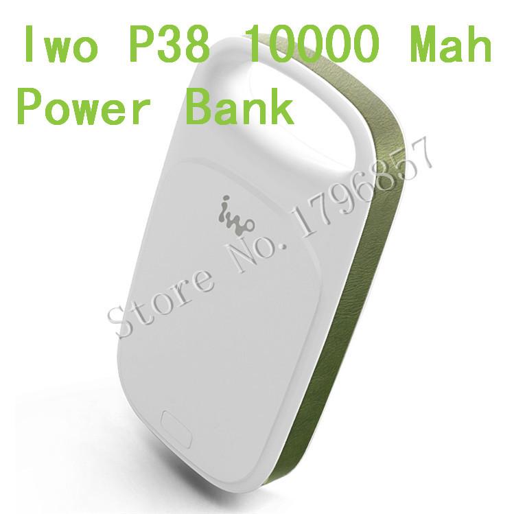 10pcs Premium portable charger iwo P38 power bank 10000mah USB External Backup Battery for smartphone Etc With LED light(China (Mainland))