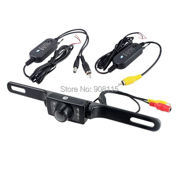 2.4G Wireless waterproof Car Reverse Rear View Camera Backup Parking Camera Russia Waterproof night vision Truck RearView Camera(China (Mainland))