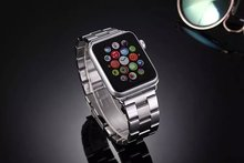38mm Premium Luxury Stainless Steel Strap Classic Buckle Connector Adapter Watch Bands For Apple Watch iWatch