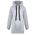 Fashion Women Long sleeved Hooded Head Large Yards Plus Velvet Thicken Pullover