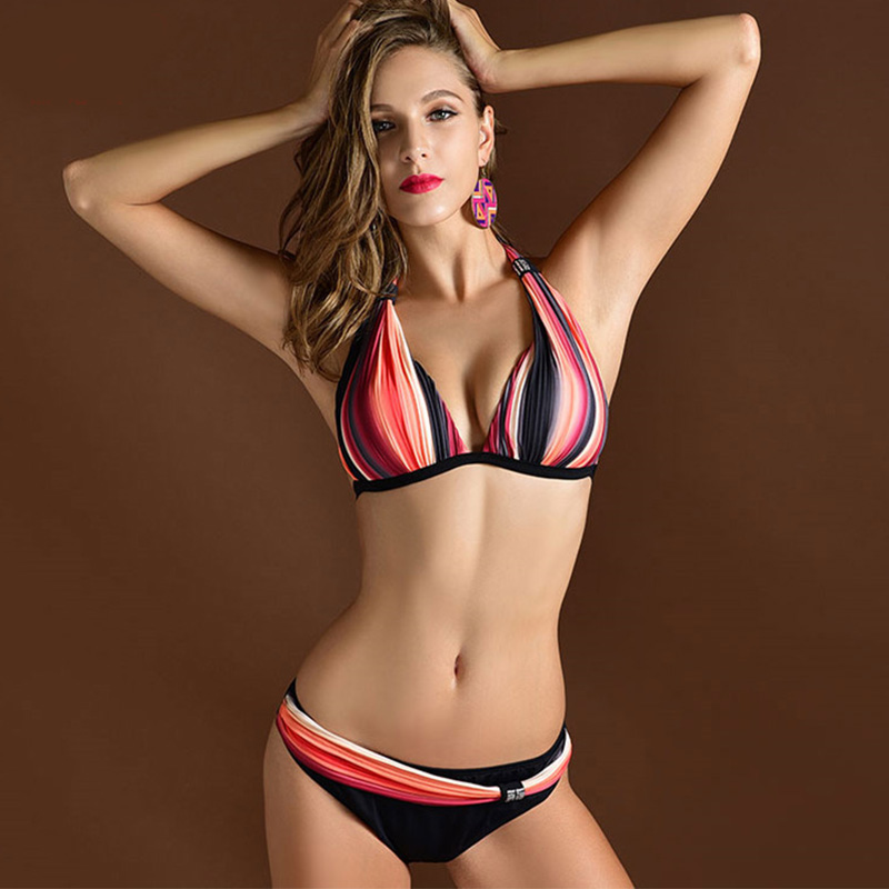 4Xl Maillot De Bain Femme Swimwear Women bikini high waist secret push up swimsuit print Brand Bikini Gilet Femme XL XXL 3XL(China (Mainland))