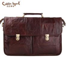 Cobbler Legend Brand 2016 New Large Capacity Genuine Cowhide Leather Professional Briefcase Computer Bag For Men Man Bag #905319(China (Mainland))