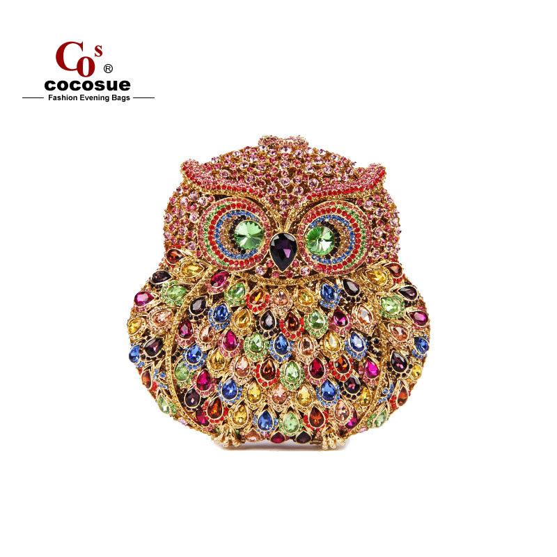 Women Handbag Evening Bags 2015 New Fashion Brand 6 Colors New Women Bag Animal Shape Luxury Crystal Clutch Evening Bags CO0393(China (Mainland))