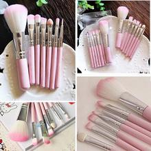 New7Pcs Pro Pink Makeup Brush Set Eyeshadow Cosmetic Tools Eye Face Beauty Brushes