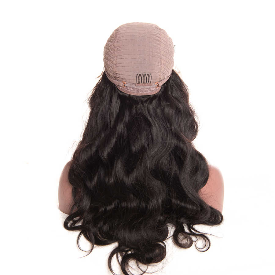 Wonder girl 12″x 6″ Pre Plucked Lace Front Human Hair Wigs For Black Women 150% Density Brazilian Body Wave Lace Wig Non Remy
