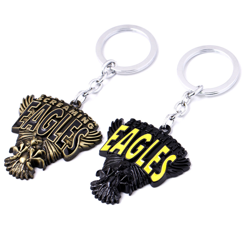 Famous Eagle Band Key Chain for Male Fans Hip Hop Key Holder Letter Keychain Key Ring Colar Masculino Llaveros Porte Clef Metal(China (Mainland))