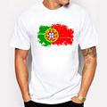 Portugal Flag 2016 New Fashion Tee shirts Short Sleeve T shirts Reminiscence Portugal Flag Summer Style