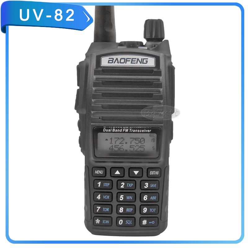 walkie talkie baofeng UV-82 two way radio handheld 128CH memory 8W CTCSS DTMF encoded dual standby PTT KEY watch pofung uv82(China (Mainland))