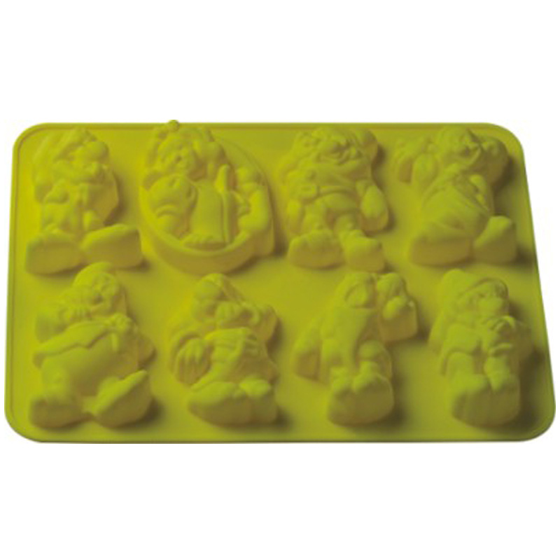 New Snow White and the seven dwarfs silicone bakeware fondant cake chocolate mold resin clay craft mould(China (Mainland))