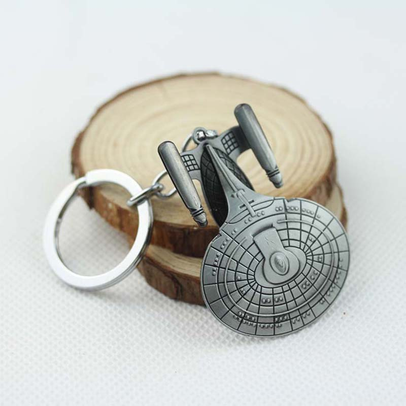 Newest Fahshion Star Trek jewelry USS Enterprise model keychain Metal pendant Key chain ring gift souvenirs for best friend(China (Mainland))