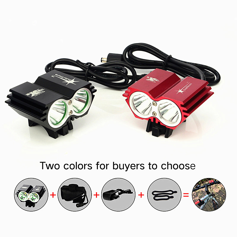 SolarStorm 5000Lm XM-L U2 LED 4 Modes Head Front Bicycle Light Bike Headlamp Torch + Battery Pack + Charger(China (Mainland))