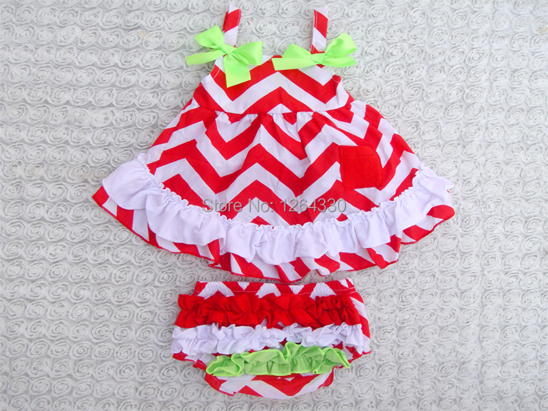 New Design Chirstmas Baby Swing Back Top Set With Ruffle Baby Clothing Bloomers KP-SW011(China (Mainland))