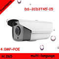 Freeshipping 2016 NEW 4MP POE IP camera DS 2CD3T45 I5 with LED long IR distance 50m