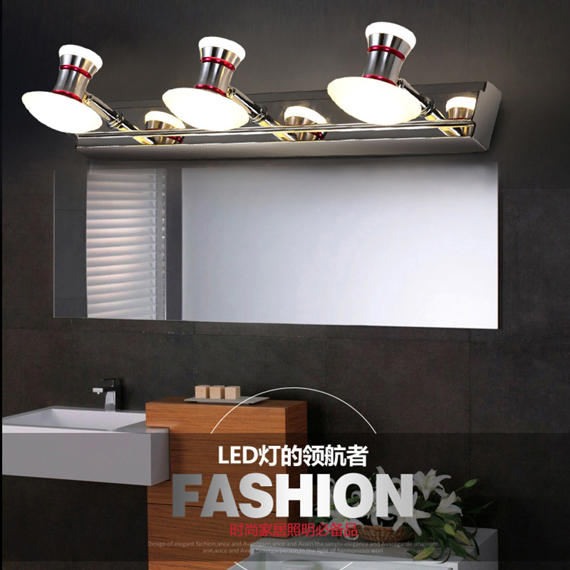 led mirror lights vanity front wall lamps living bedroom led light 10w lighting fixtures modern brief bathroom wall lamp(China (Mainland))