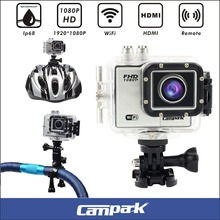 Campark 2.0″ LCD 1080P 60fps Wifi Action Camera Ambarella A7LS75 + 12MP 1/2.33″ Sensor Sports DV Action Camcorder