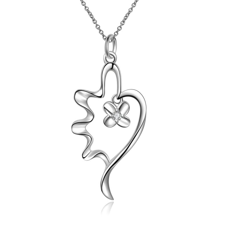 Hot Sell Elegant Four Leaf Leaves Clover Women Fine Jewelry Necklace Pendants Jewelry Wholesale Free Shipping(China (Mainland))