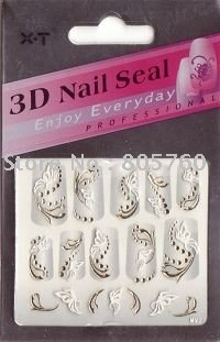 50 packs /lot +free shipping bronzing nail sticker acrylic nail sticker nail art sticke