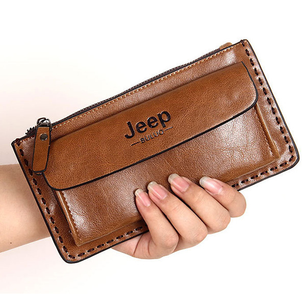 Young Fashion Long Men Clutch Wallet Brand Desigual Genuine Leather Bag Wallet Carteira Masculina Men Purse and Handbag(China (Mainland))