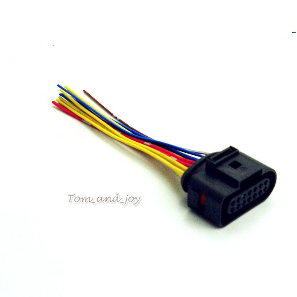 online buy whole vw harness plug wiring from vw harness new wire plug harness connector 6x0 973 717 6x0973717 for vw passat 01 05 b5
