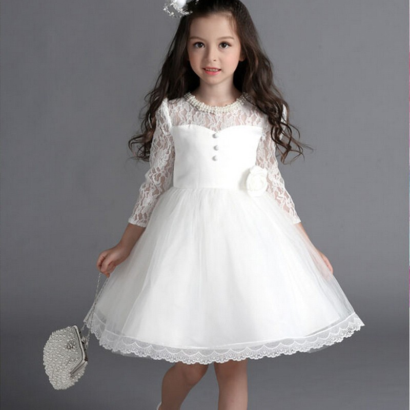 beaded first communion dresses for girls 2016 new 3 4 sleeves cute