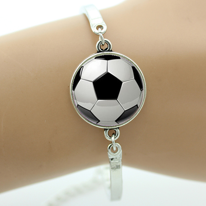 TAFREE Brand Fashion football picture bracelet vintage soccer image handmade ball fans jewelry rugby sports event team gift T802(China (Mainland))
