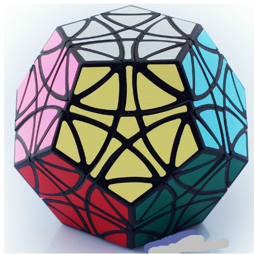 Mf8 Helicopter Dodecahedron Black Megaminx Cube Puzzle(China (Mainland))