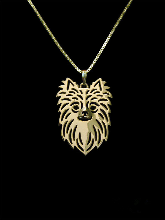 Trendy personalized Long Haired Chihuahua pendant necklace women18K gold silver statement necklace men cs go wholesale collares(China (Mainland))