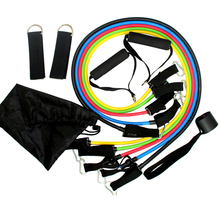 Buy 11pcs/Set Resistance bands exercise set fitness tube yoga workout pilates Latex Tubing Expanders Exercise Tubes Practical Streng for $8.99 in AliExpress store