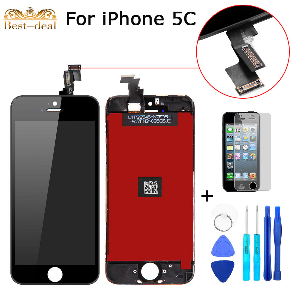 100% Guarantee Grade AAA LCD Replacement Display for Iphone 5C Touch Screen Digitizer Assembly + Tools + Screen Protector(China (Mainland))