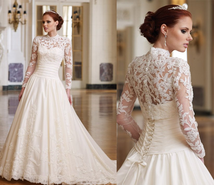 Lace Corset Wedding Dresses