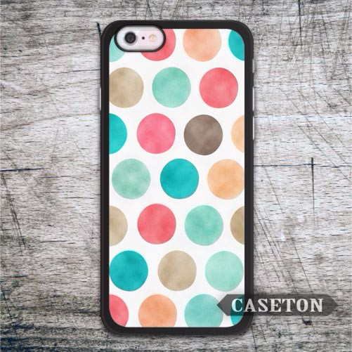Rainbow Polka Dots Case For iPhone 7 6 6s Plus 5 5s SE 5c 4 4s and For iPod 5 Ultra Lovely Phone Cover Free Shipping