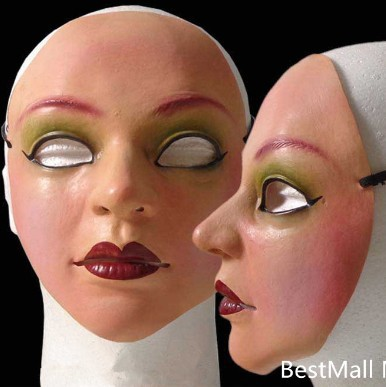 Masque de masque de latex femelle sur