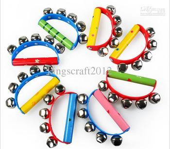 Free Shipping-- kids music toys, instruments for baby, tambourine bells wholesale