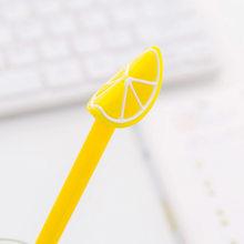 Mignon fruits Gel stylos créatif pastèque citron Pitaya Kiwi neutre stylos 0.38mm pour enfants écriture cadeaux bureau école papeterie(China)