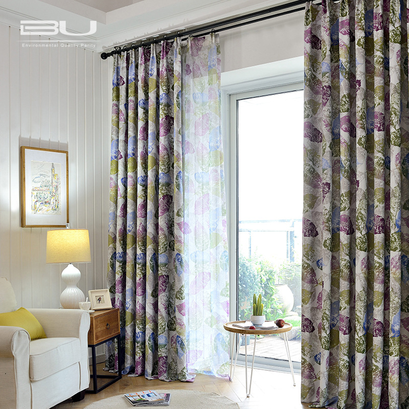2016 Luxury Floral Blackout Curtain Polyester Printed Panel For Living Room Pastoral Western