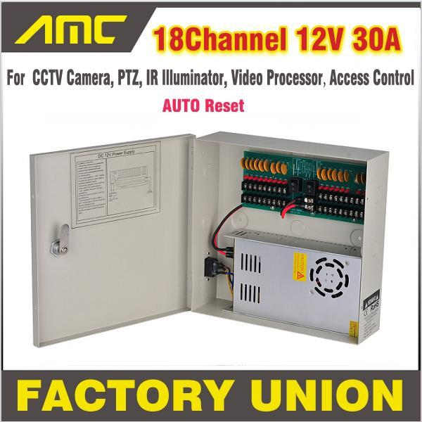CCTV Power Box 18 Channel 12V 30A Support PTZ IR Illuminator Access Control for 18CH DVR CCTV Camera Power Supply(China (Mainland))