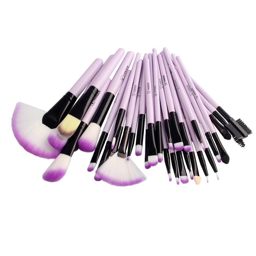 Professional 32 PCS Makeup Brushes Set + PU Leather Case Cosmetic Foundation Eyeshadow Powder Brush Beauty Tools Maquiagem (25)
