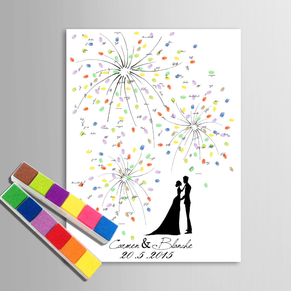 Painting Canvas Prints - Fireworks Hand Drawing Wedding Gift ...