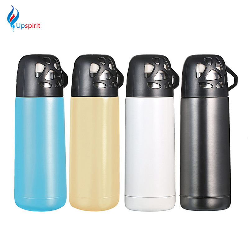 Creative Style 350ml Stainless Steel Thermos Travel Mug Vacuum Flask Thermoses Thermo Cup Drinking Bottle With Bird Nest Cup Lid(China (Mainland))